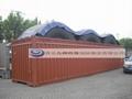 青岛港大件货物框架箱开顶箱海运订舱装箱加固 2