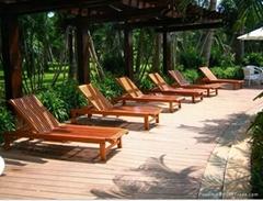 供应海南三亚实木休闲沙滩椅