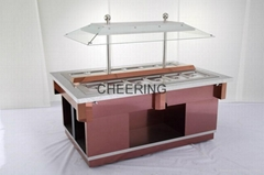 2015 New model 304 color-stainless steel salad bar