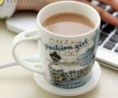Porcelain Mug with Handle