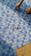 4.8公分蓝色水池水晶玻璃马赛克