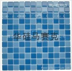 蓝色水晶玻璃马赛克