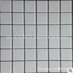 白色水晶玻璃马赛克48*48*4mm