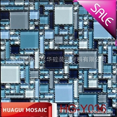 Size piece of crystal glass Mosaic background wall