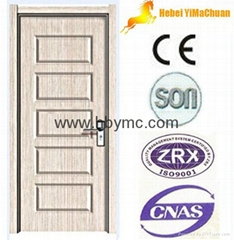 PVC interior door with c