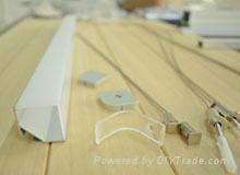 LED Alu profile for strips light rigid bars