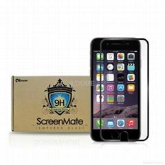 iloome iphone 6  5.5寸(黑色 真正9H优质 钢化玻璃保护膜