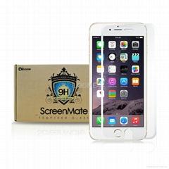 iloome iphone 6  5.5寸 白色 真正9H優質 鋼化玻璃保護膜