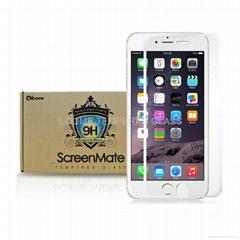 Iloome iphone 6 4.7寸 白色 9H優質鋼化玻璃保護膜