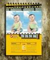 2015 Customized design desk calendar high quality photo wall calendars