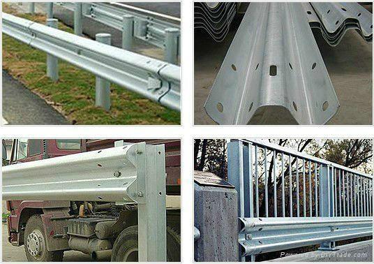 Three Waves Galvanized Steel Highway Guardrail 2