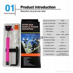 hot factory wholesale extendable flexible mobile phone monopod bluetooth shutter