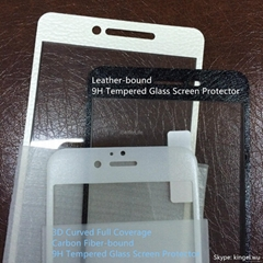 OEM AGC 3D Curved Full Coverage Carbon Fiber 9H Tempered Glass Screen Protector