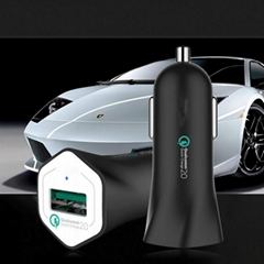 Universal Qualcomm® Quickly Charge™ QC 2.0 Car Chargers for Iphone