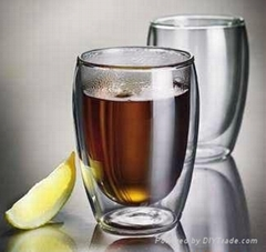 hot sale double wall glass cup