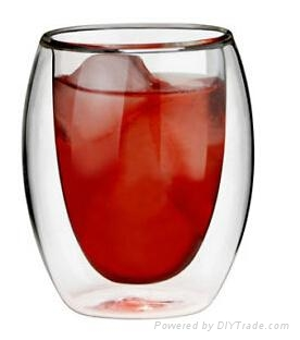 hot sale double wall glass cup 2