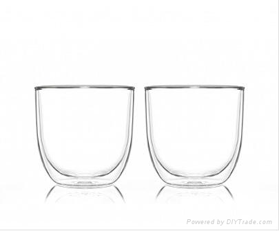 hot sale double wall glass cup 4