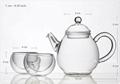 Double wall glass teapot  5