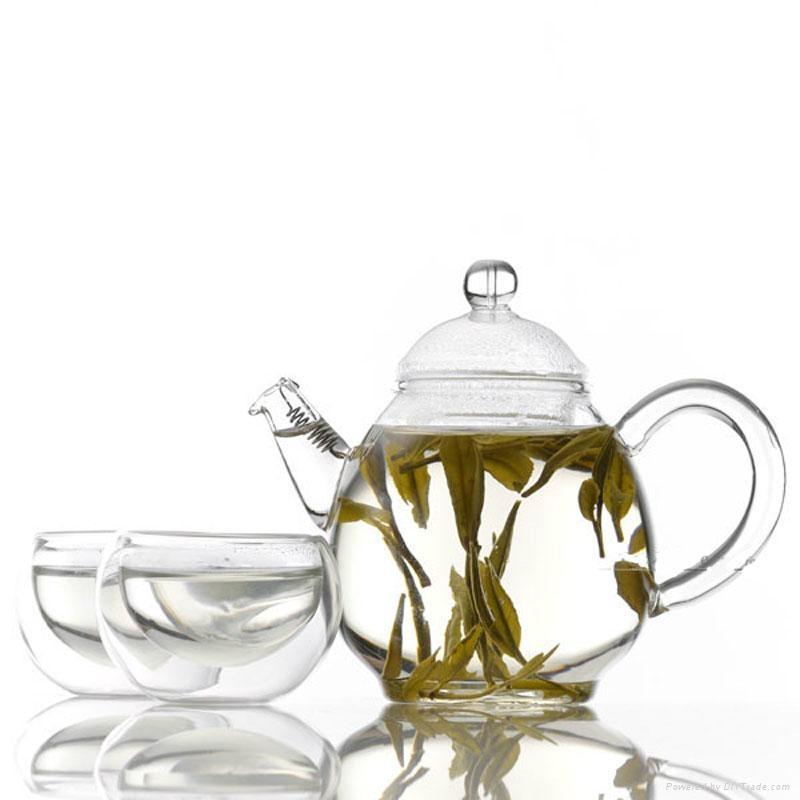 Double wall glass teapot  2