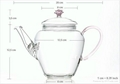 Double wall glass teapot  for flower 2