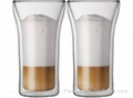 hot sale double wall glass cup 5