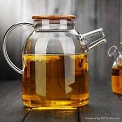 large capacity glass teapot