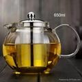 Big capacity glass teapot 2