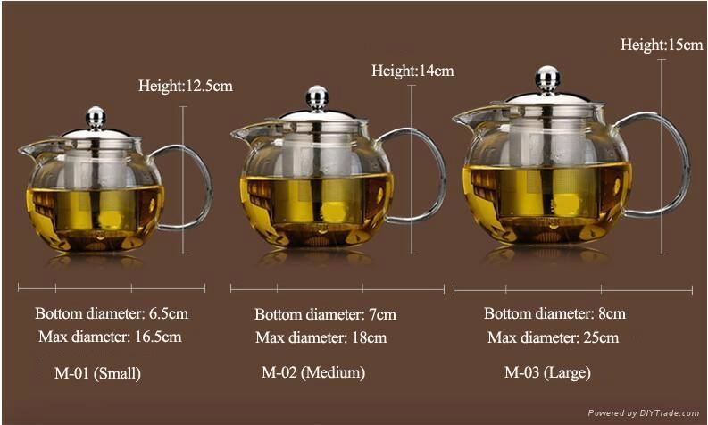 Big capacity glass teapot 4