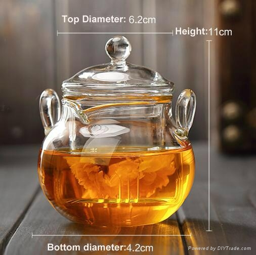 225ml glass teapot 4