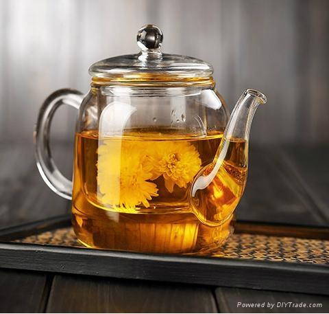 Flower glass teapot 1
