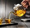 Flower glass teapot 2