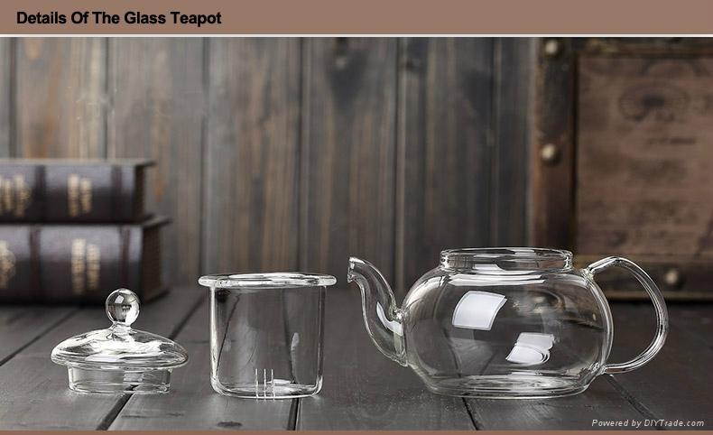 heat resistant glass teapot 5