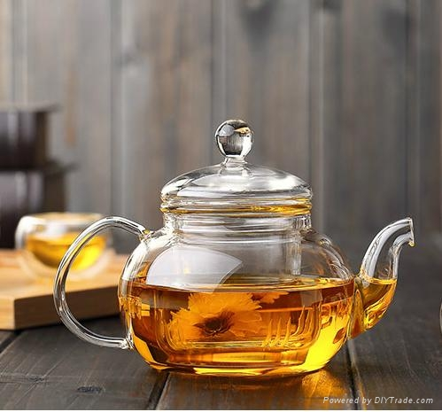 heat resistant glass teapot 1