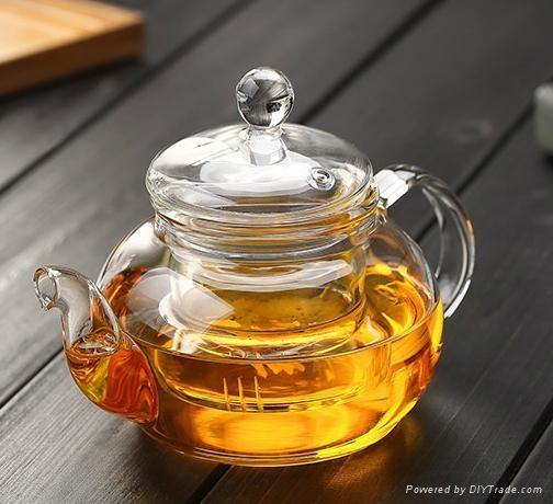 heat resistant glass teapot 2