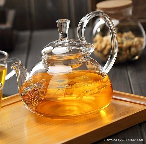 fire resistant borosilicate glass teapot 1