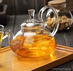 fire resistant borosilicate glass teapot