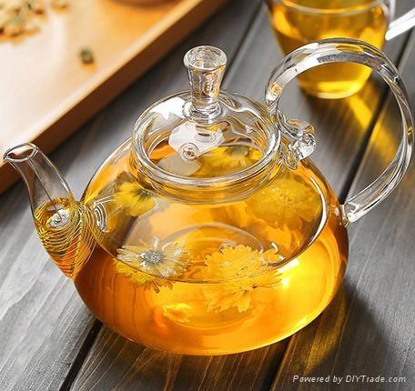 fire resistant borosilicate glass teapot 3