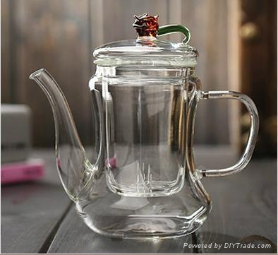 500ml Classic Glass Teapot With Coil Filter - Borosilicate Glass 3