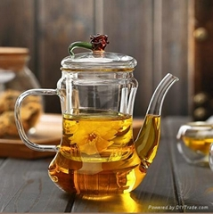500ml Classic Glass Teapot With Coil Filter - Borosilicate Glass