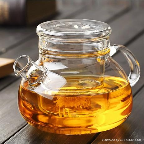 Hot Selling Christmas Gift Wholesale Glass Teapots With Infuser 2