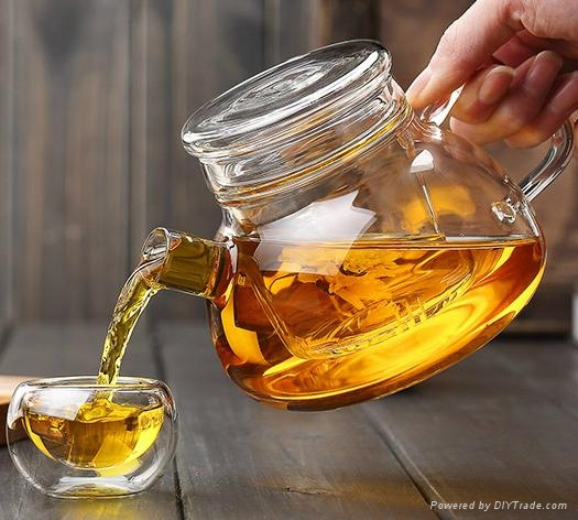 Hot Selling Christmas Gift Wholesale Glass Teapots With Infuser 3