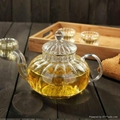 Hot Selling Christmas Gift Wholesale pumpkin Glass Teapots With Infuser  2