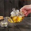 Hot Selling Christmas Gift Wholesale pumpkin Glass Teapots With Infuser  4