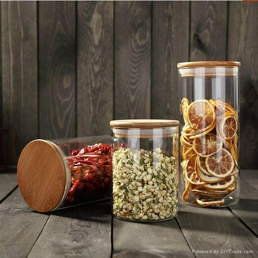 Hot Selling Christmas Gift Wholesale glass canisters 3