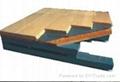 SS结构双层龙骨防潮体育木地板