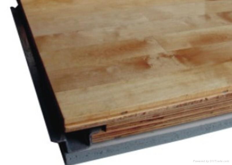 GC结构悬浮式防潮运动木地板 1