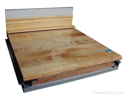 GC结构悬浮式防潮运动木地板 2