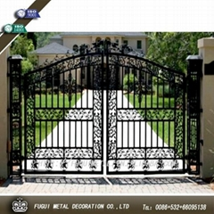 Decorative and Elegant wrought iron gate