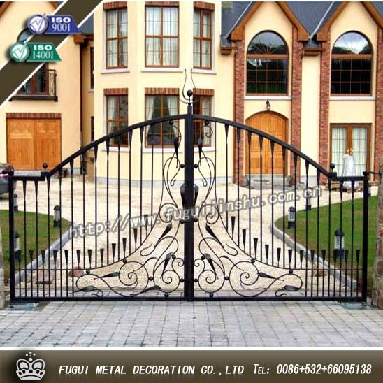 Decorative wrought iron gate main swinging gate 4