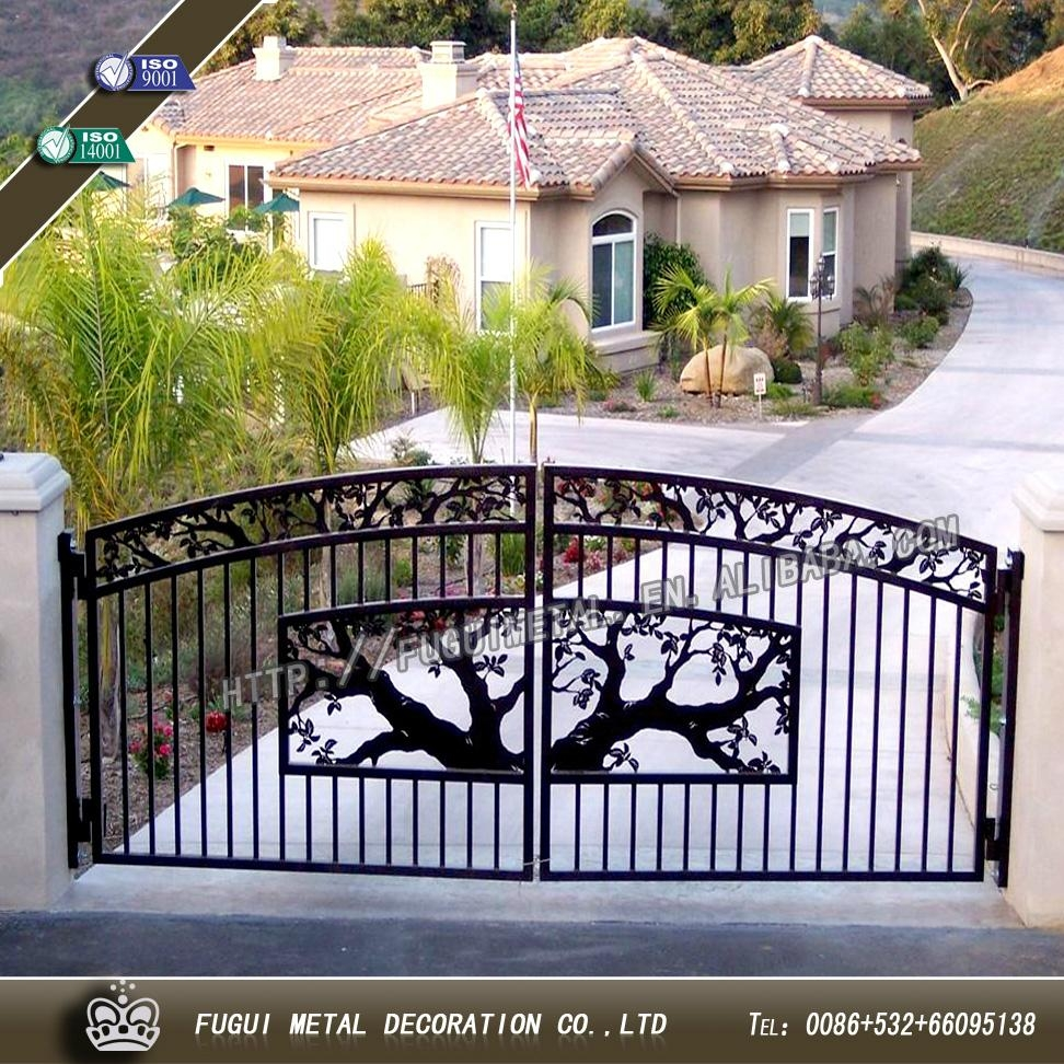 Decorative wrought iron gate main swinging gate 1